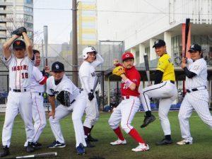 オーダー野球ユニフォーム パンツスタイル画像
