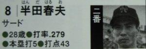 野球の雑学 半田春夫
