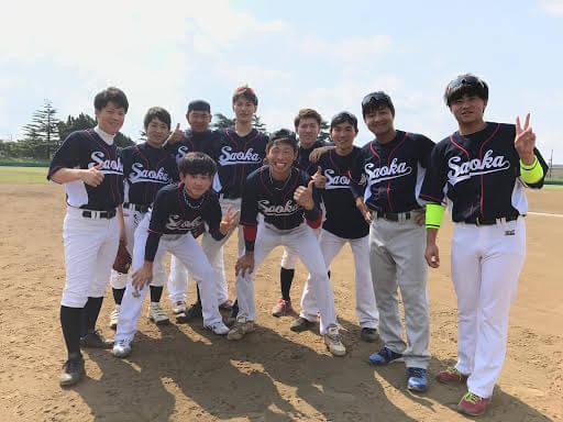 草野球チームSaoka様 チーム集合写真