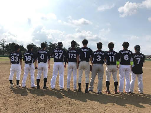 草野球チームSaoka様 チーム集合写真後ろ向き