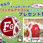 野球ユニフォームオーダープレゼントキャンペーン